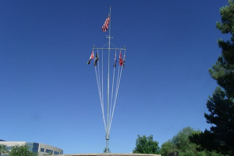 Mast of the USS Arizona in Phoenix