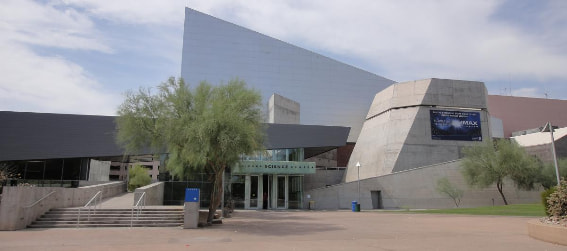 the outside of the arizona science center
