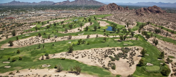 aerial view of the papago golf course phoenix